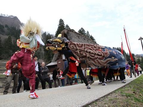 五箇山春祭りの画像