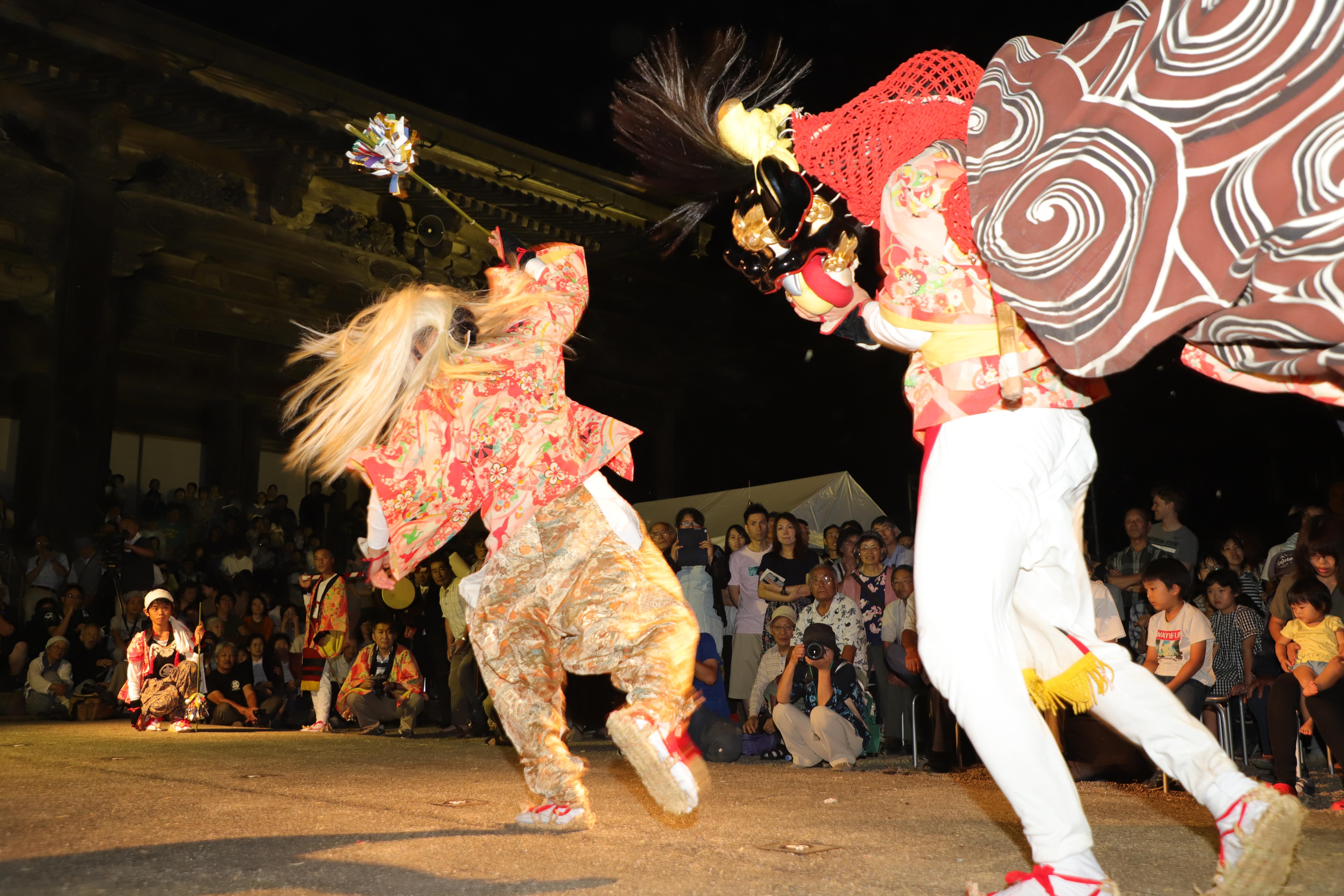 大鋸屋の獅子舞の画像