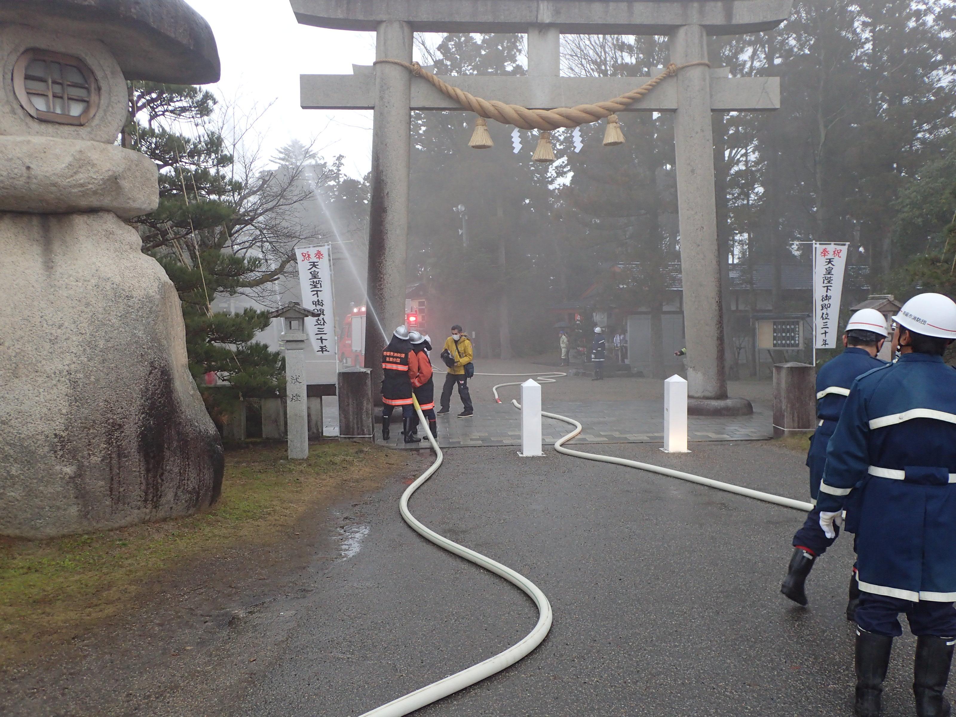 第66回文化財防火デーに係る文化財防火訓練の実施の画像