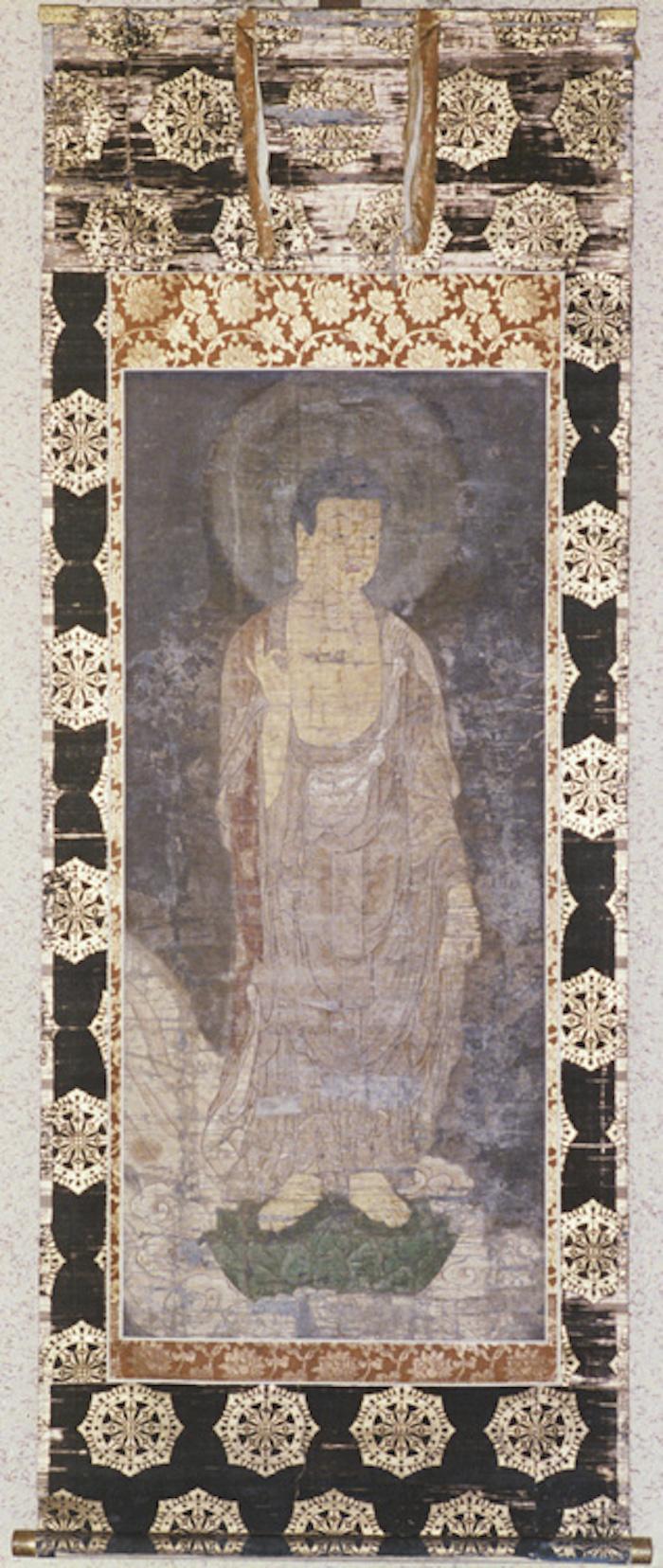 絹本著色来迎阿弥陀如来絵像の画像