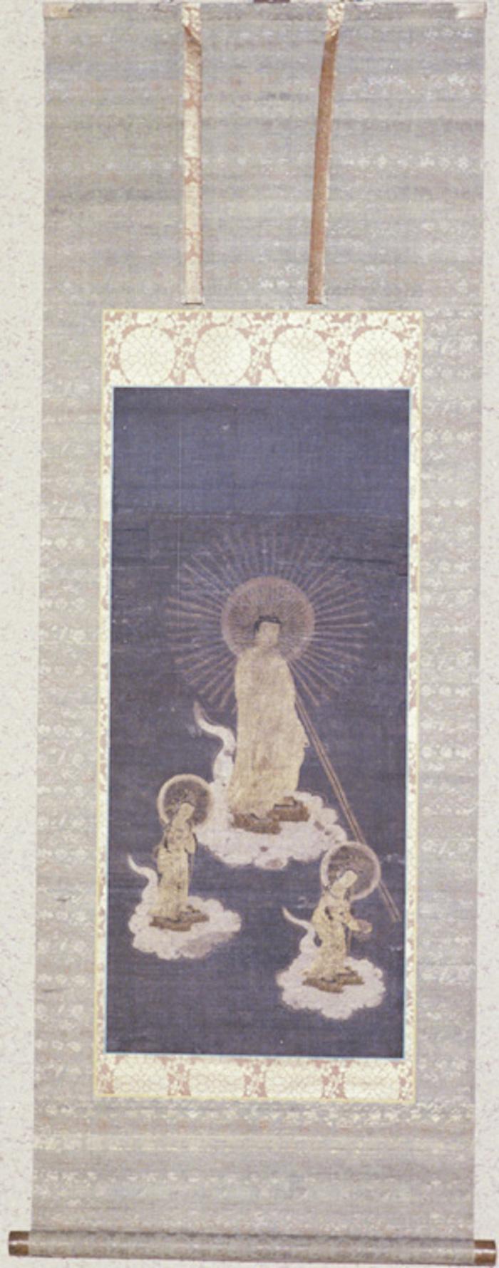 絹本著色雲上阿弥陀如来三尊絵像の画像