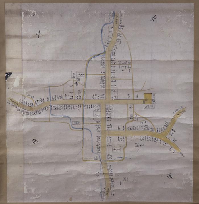藩政期の福野町絵図及び巡見上使宿舎絵図の画像