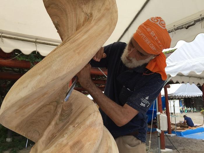 南砺市いなみ国際木彫刻キャンプ2019の画像