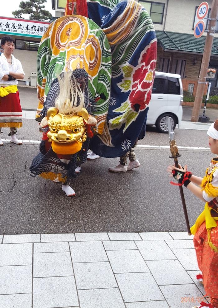 下新町の獅子舞の画像