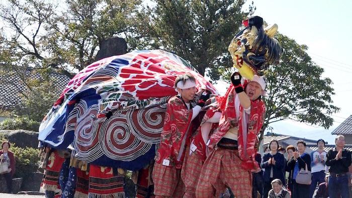 竹林獅子舞の画像